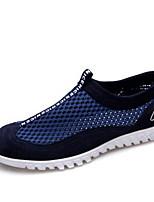 Синий-Для мужчин-Повседневный-ПолотноУдобная обувь-Мокасины и Свитер