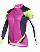 Cycling Jersey Women's Long Sleeve Bike Quick Dry Breathable Lightweight Materials Back Pocket Sweat-wicking Comfortable 100% Polyester