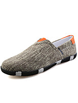 -Для мужчин-Для прогулок Повседневный-Лён-На плоской подошве-Удобная обувь Светодиодные подошвы-Мокасины и Свитер