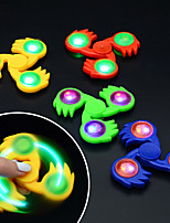 Flash LED Tri-Spinner Hand Spinner Toys Sensory Fidgets Autism Anti Stress Funny Gifts Plastic 7 * 7 1