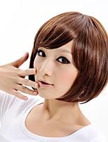 Capless зола коричневый парик милый моды синтетический парик для женщин