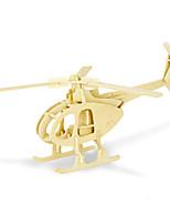 Puzzles Puzzles 3D Blocs de Construction Jouets DIY  Hélicoptère Bois Maquette & Jeu de Construction