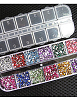 2 mm 12 colors Round Acrylic Rhinestone Perfect for 3D Nail Art Decoration