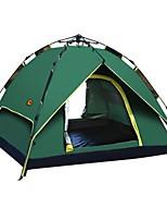 Double Tente automatique Une pièce Tente de campingRandonnée Camping Voyage-Vert