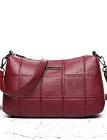 Для женщин Полиуретан На каждый день Сумка на плечо Золотой Черный Красный Серый Розовый