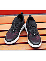 Men's Sneakers Comfort Fabric Casual Red Black