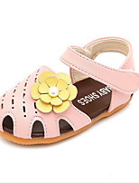 Girls' Sandals Summer First Walkers Leatherette Casual Flat Heel Blushing Pink Red White