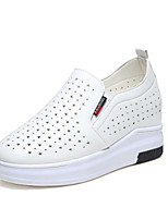 Women's Sneakers Spring Summer Fall Comfort PU Tulle Athletic Casual Flat Heel Black White