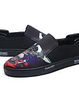 Черный-Для мужчин-Для прогулок Для офиса Повседневный-Резина ПолиуретанУдобная обувь Туфли Мери-Джейн-Кеды
