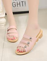 Women's Slippers & Flip-Flops Spring Summer Cut Out Simple Comfort Skid Resistance Dress Casual Low Heel Beading