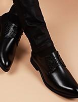 Men's Oxfords Spring Comfort Leather Casual Black