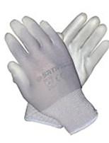 Sata 7 pu gris gants de protection industriels dip de palmier