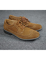 Men's Oxfords Spring Fall Formal Shoes Suede Office & Career Casual Flat Heel Brown Black