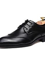 Men's Oxfords Spring Fall Comfort Other Animal Skin Outdoor Office & Career Flat Heel Burgundy Gray Black Walking