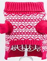Dog Sweater Dog Clothes Winter Flower Cute