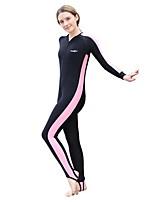 Femme Combinaison  Intégrale Respirable Séchage rapide Design Anatomique Chinlon Tenue de plongée Manches longues Combinaisons-Plongée