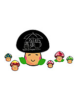 Wall Stickers Wall Decals Style Cartoon Mushroom PVC Blackboard Wall Stickers