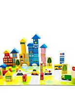 Blocos de Construir Brinquedo Educativo para presente Blocos de Construir Modelo e Blocos de ConstruçãoCircular Quadrangular Forma