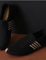 Черный Синий-Для мужчин-Повседневный-ПолиуретанУдобная обувь-Мокасины и Свитер