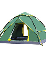 3-4 persons Tent Double Fold Tent One Room Camping Tent 1500-2000 mm Fiberglass OxfordMoistureproof/Moisture Permeability Waterproof