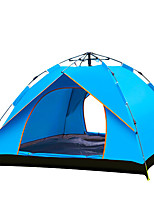 3-4 persons Tent Double Automatic Tent One Room Camping Tent 1500-2000 mm Aluminium Oxford Polyester TaffetaMoistureproof/Moisture