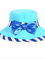 Women Striped Printed Bowknot Cap Fisherman Dome Travel Cap