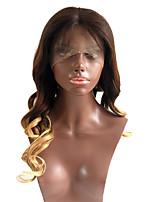 Ombre t1b / 4/27 perucas virgens brasileiras do laço do cabelo folheiam as perucas do cabelo humano da parte dianteira do laço da onda com