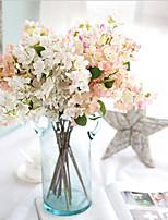 1PC Flower Branch Polyester Azalea Tabletop Flower Artificial Flowers