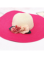 Wide Brim Straw Hat Women Flower Foldable Beach Sea Sun Hat Summer Hats Sunscreen Cap