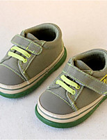 Boys' Baby Flats Comfort Canvas Spring Fall Casual Comfort Flat Heel Navy Blue Army Green Light Blue 1in-1 3/4in