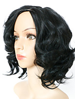 30cm Capless Black Wig Curly Fashion Synthetic Wig For Women Costume Wigs Synthetic Wigs