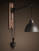 American country style wall lamp retro creative Wooden pulley wall lamp