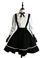 Jupe Chemisier/Chemise Lolita Classique/Traditionnelle Cosplay Vêtrements Lolita Couleur Pleine Manches longues Genou Chemisier Jupe Pour