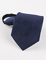 Korean dark blue pattern lazy business man tie