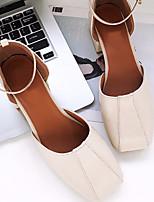 Women's Sandals Spring Comfort PU Casual Coffee Beige