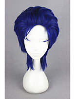 Short JoJo's Bizarre Adventure-Jonathan Joestar Blue Synthetic 14inch Anime Cosplay Wig CS-177C