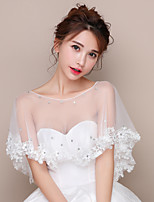 Women's Wrap Shawls Tulle Wedding Party/Evening Appliques Rhinestone