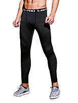 Homme Sans manche Yoga Exercice & Fitness Courses Basket-ball Pantalon/Surpantalon Survêtement Bas Collants Respirable Séchage rapide Noir