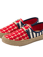 Men's Loafers & Slip-Ons Spring Summer Fall Comfort Fabric Casual Flat Heel