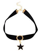 Жен. Девочки´ Ожерелья-бархатки Ожерелья с подвесками Воротничок Бижутерия В форме звезды Кожа СплавБазовый дизайн Euramerican Сделай-сам