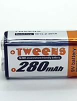 Bateria de níquel metal hidreto 9v