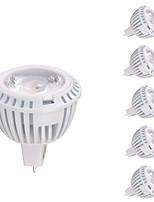 7W GU5.3(MR16) Spot LED MR16 1 COB 520 lm Blanc Chaud DC 12 AC 12 V 6 pièces
