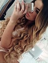 Ombre T1B / 4/27 шнурка парики человеческих волос свободной волны для женщин 150% плотность перуанской девственных волос бесклеевой