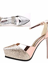 Women's Heels Spring Club Shoes PU Casual Silver Gold