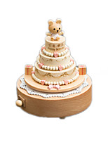 Music Box Circular Model & Building Toy Wood Unisex