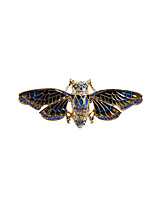 Fashion Trendy Cute Enamel Butterfly  Metal brooch