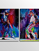 Canvas Print People Modern Michael JacksonTwo Panels Canvas Horizontal Print Wall Decor For Home Decoration