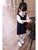 Girl's Casual/Daily Solid Dress,Cotton All Seasons Sleeveless