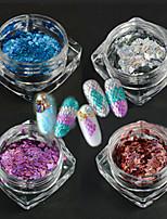 4bottle / set новый стиль элегантный стиль ногтей искусство DIY красоты блеск тонкий ломтик лазерной полосой ромб дизайн ослепительно