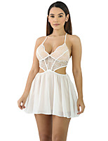Women's Beach Holiday Sexy Loose Dress,Solid Strap Mini Sleeveless Polyester Spandex Summer High Rise Micro-elastic Thin